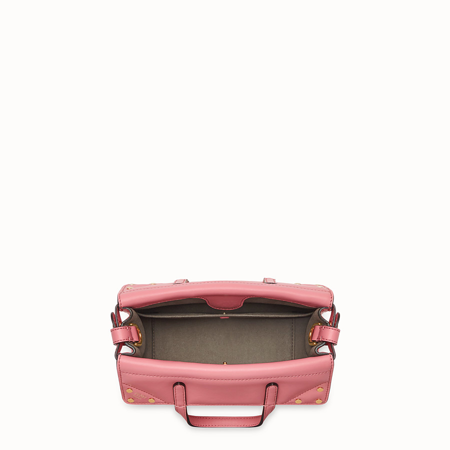 FENDI FENDI FLIP SMALL - Pink leather bag - view 5 detail