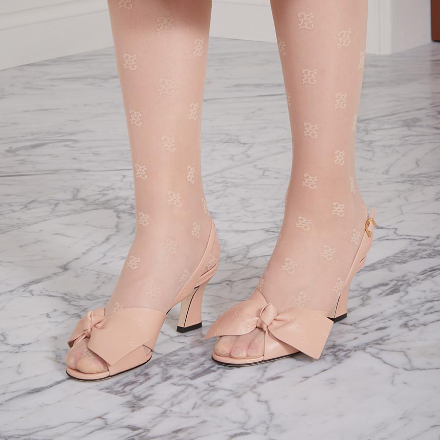 FENDI SANDALE - Sandale aus Leder in Rosa - view 5 detail