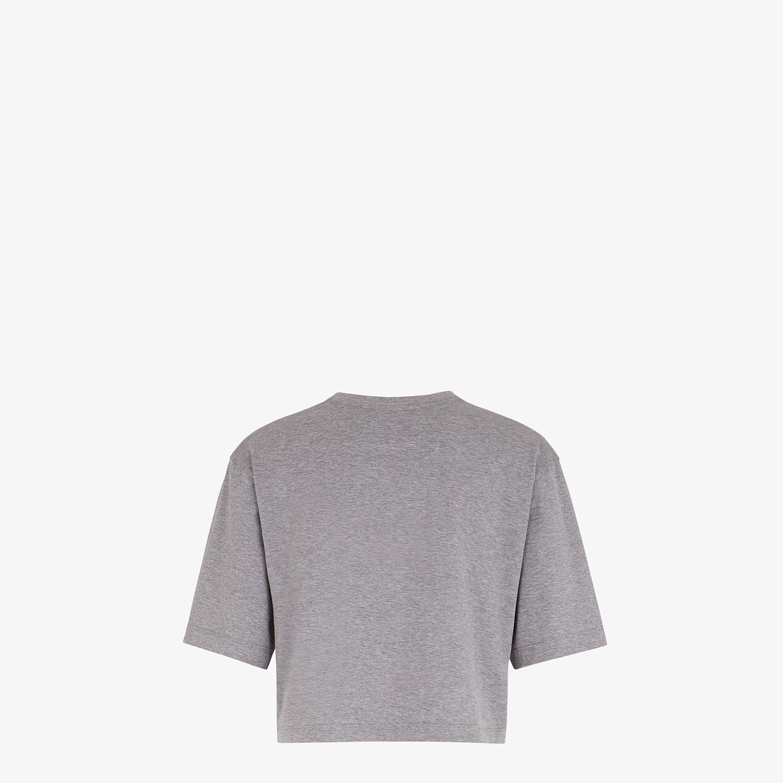 FENDI T-SHIRT - Gray cotton T-shirt - view 2 detail
