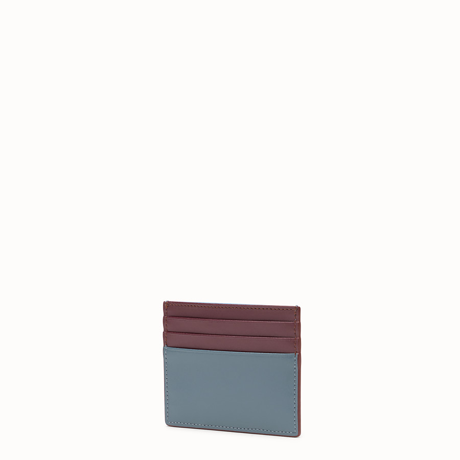 FENDI CARD HOLDER - Flat multicolour leather card holder - view 2 detail