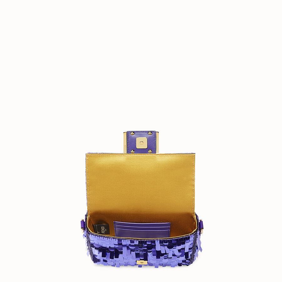 FENDI MINI BAGUETTE - Purple sequin minibag - view 5 detail
