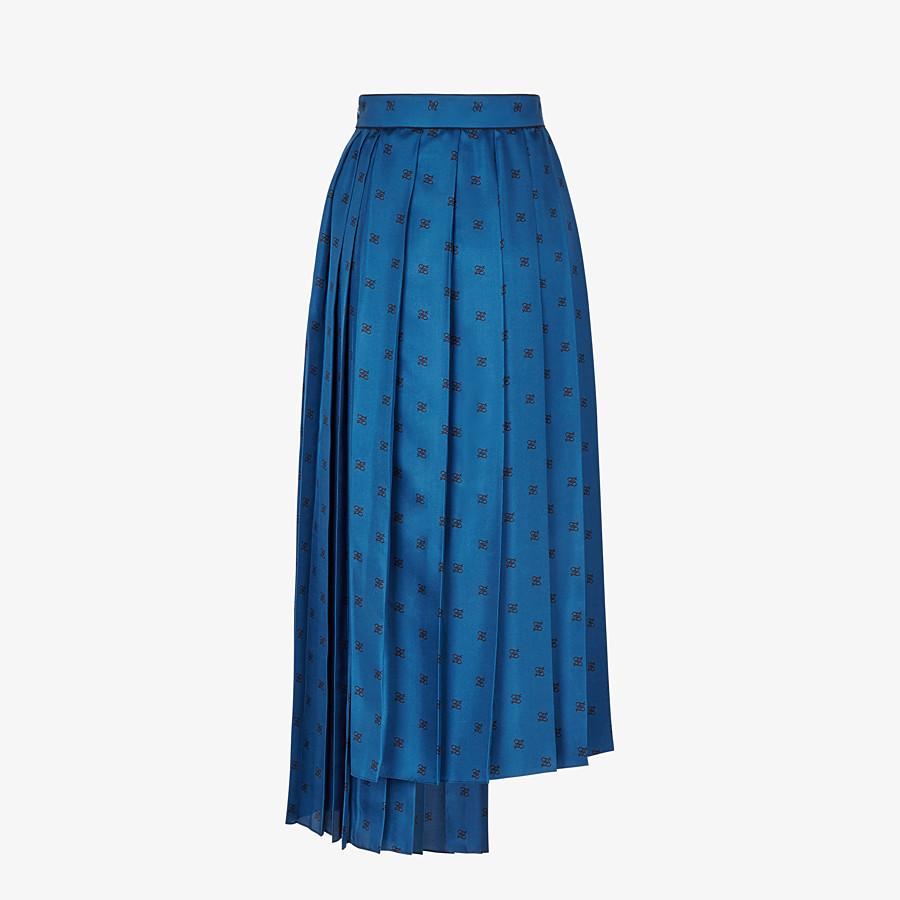 FENDI SKIRT - Blue silk skirt - view 2 detail
