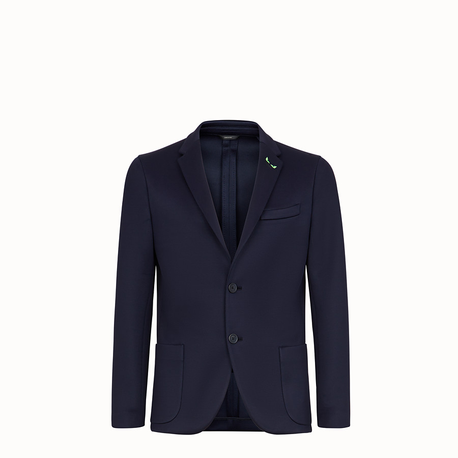 FENDI JACKET - Blue scuba blazer - view 1 detail