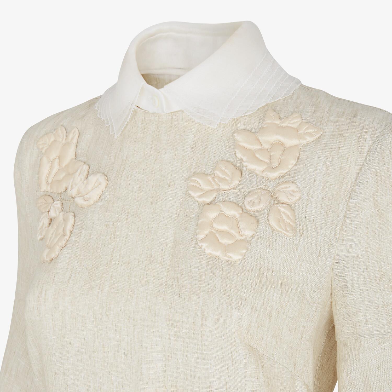 FENDI DRESS - Beige linen dress - view 3 detail