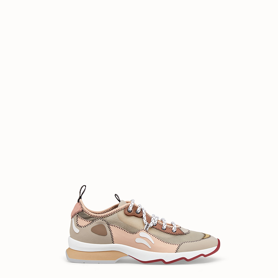 FENDI SNEAKERS - Beige technical mesh sneakers - view 1 detail
