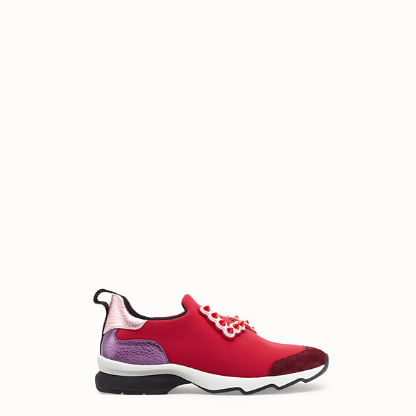 FENDI SNEAKERS - Sneakers in red technical fabric - view 1 small thumbnail