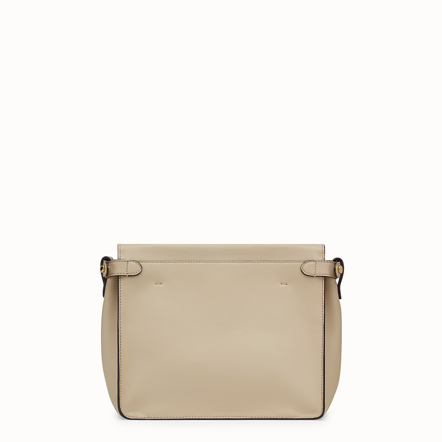 FENDI FENDI FLIP REGULAR - Beige leather bag - view 4 detail