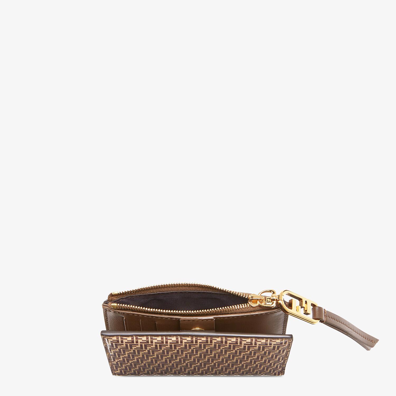 FENDI MEDIUM WALLET - Beige leather wallet - view 3 detail
