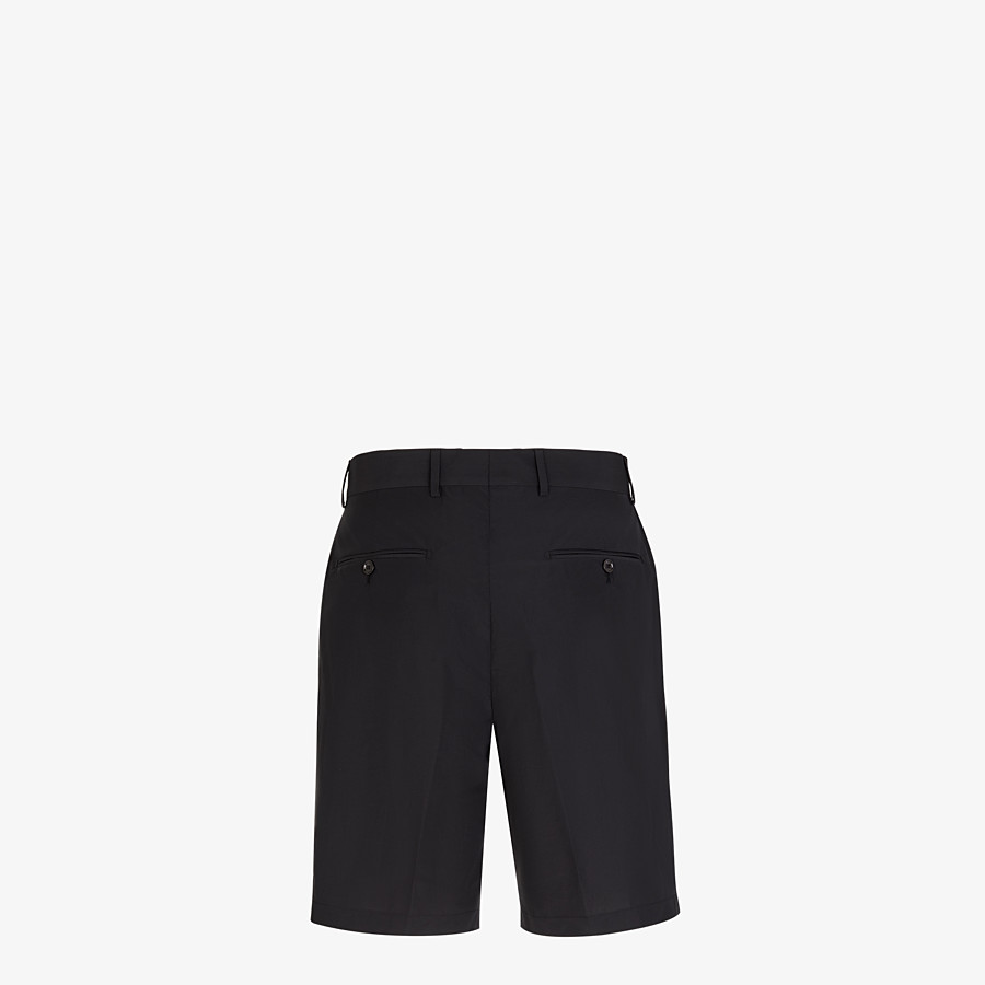 FENDI BERMUDAS - Black nylon and cotton pants - view 2 detail