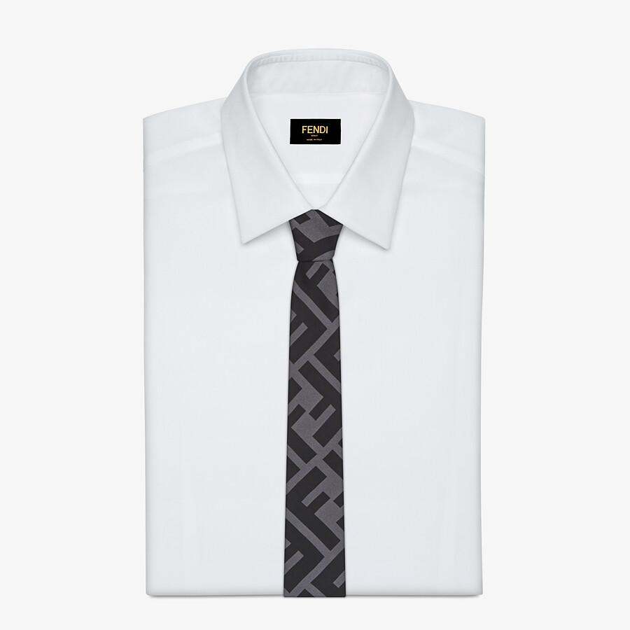 FENDI TIE - Black silk tie - view 2 detail