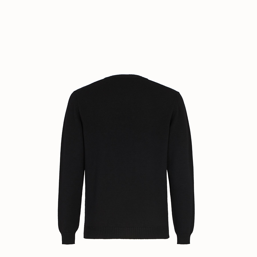 FENDI PULLOVER - Black wool jumper - view 2 detail