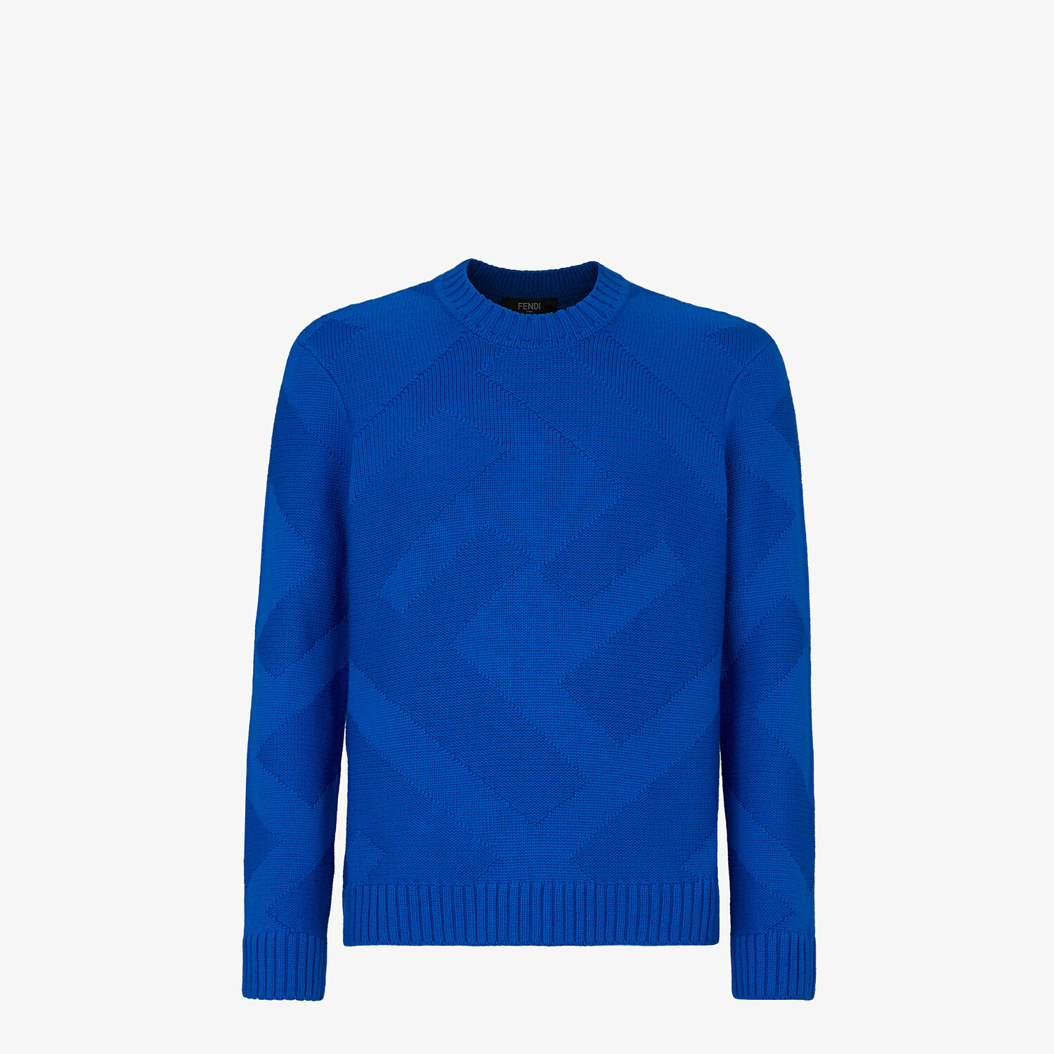 FENDI PULLOVER - Blue wool pullover - view 1 detail