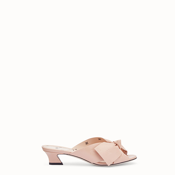 FENDI  - Pink leather sandals - view 1 small thumbnail