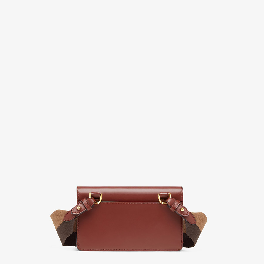 FENDI FLAT BAGUETTE - Brown leather mini-bag - view 4 detail