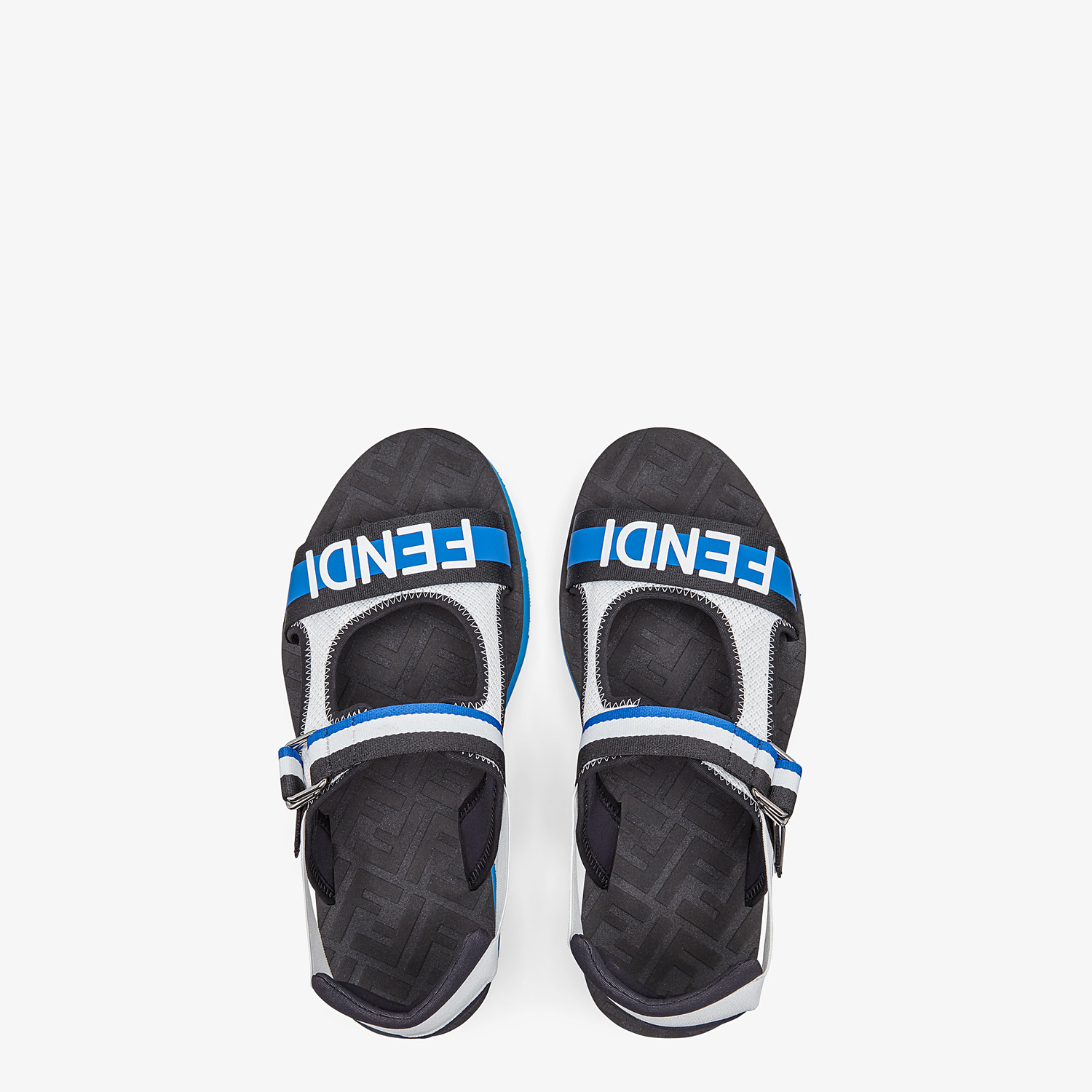FENDI SANDALS - Multicolour tech fabric sandals - view 4 detail