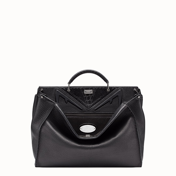 FENDI PEEKABOO MEDIUM - Black Romano leather bag - view 1 small thumbnail