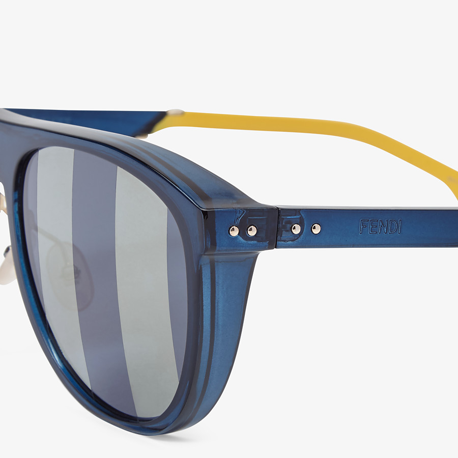 FENDI BOTANICAL FENDI - Blue sunglasses - view 3 detail