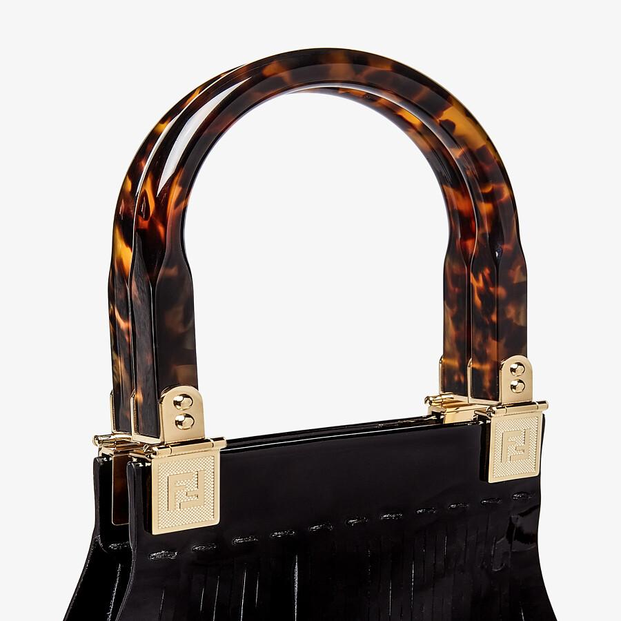 FENDI FENDI SUNNY - Pink patent leather shopper - view 5 detail
