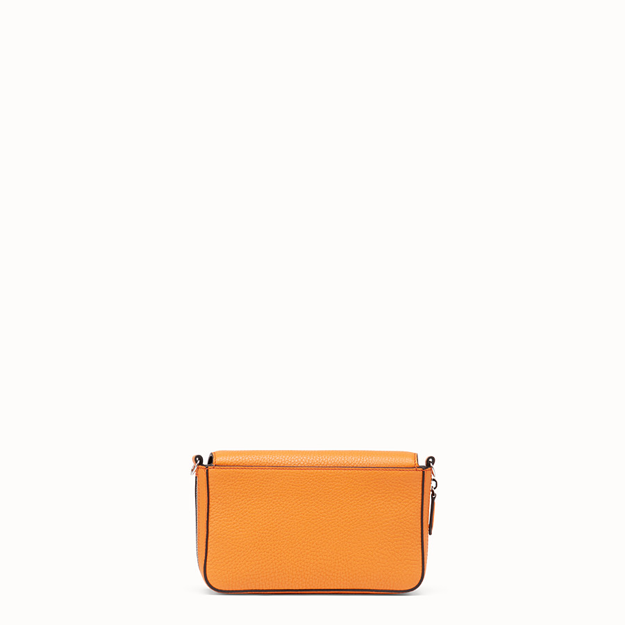 FENDI FLAP BAG - Borsa in pelle arancione - vista 4 dettaglio