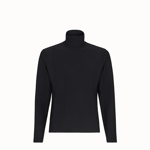 FENDI TURTLENECK - Black jersey jumper - view 1 small thumbnail