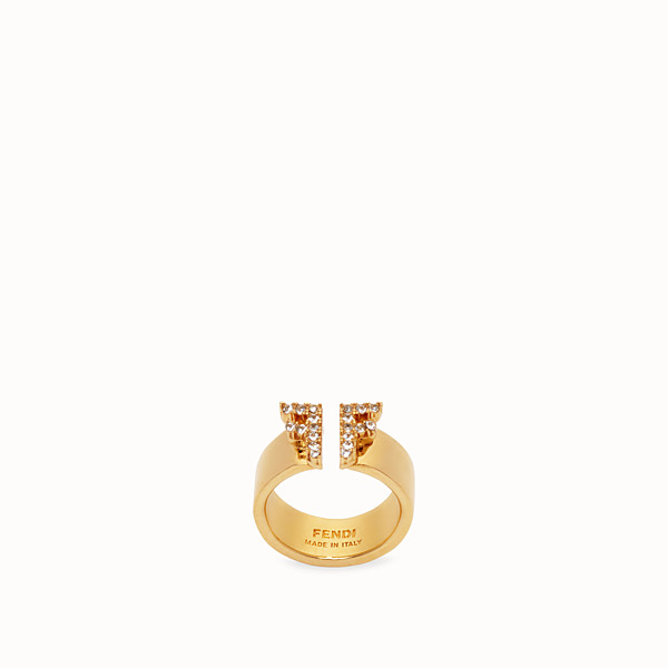 FENDI FFREEDOM RING - Gold-colour ring - view 1 small thumbnail