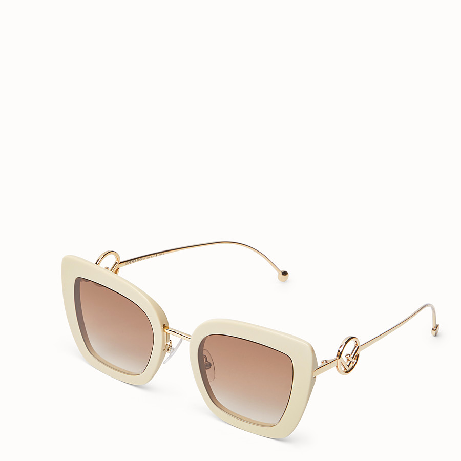 FENDI F IS FENDI - Beige acetate and metal sunglasses - view 2 detail
