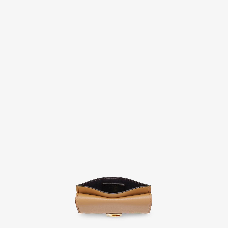 FENDI CARD HOLDER - Beige nappa leather card holder - view 4 detail