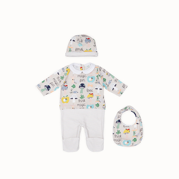 FENDI BABY BUNX KIT - Printed and multicolour cotton Baby Boy Kit - view 1 small thumbnail