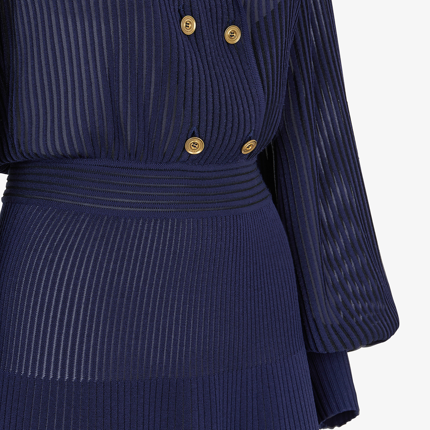 FENDI DRESS - Blue viscose dress - view 3 detail
