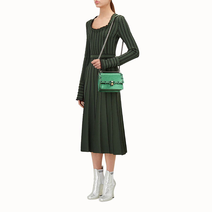 FENDI KAN I SMALL - Green laminated leather mini bag - view 5 detail