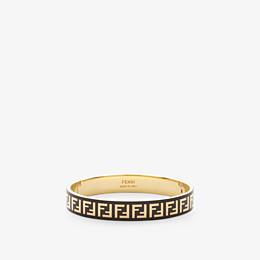 FENDI FF BRACELET - Gold and black coloured bracelet - view 1 thumbnail