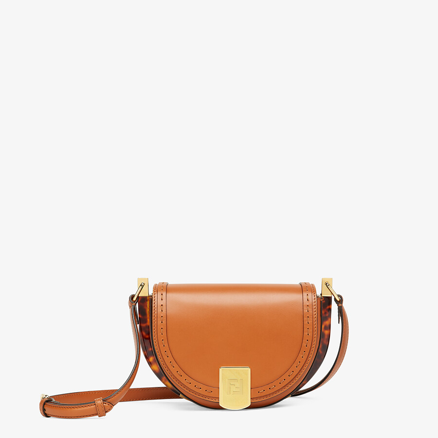 FENDI MOONLIGHT - Brown leather bag - view 1 detail