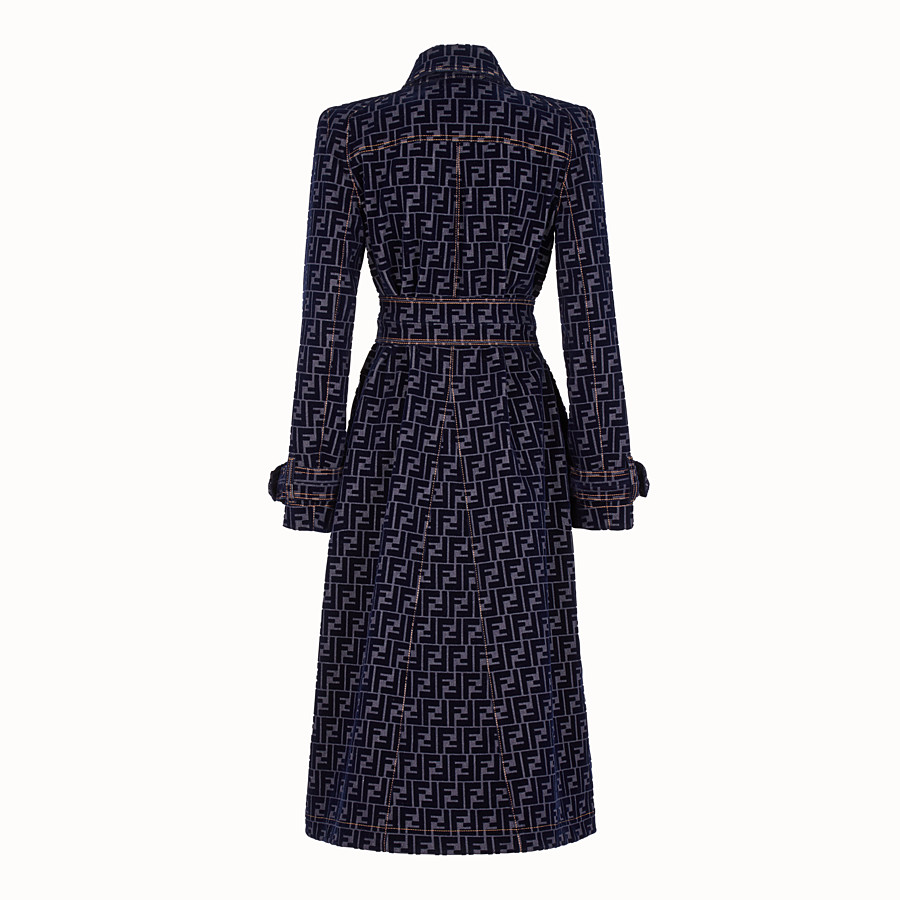FENDI TRENCH COAT - Blue denim trench coat - view 2 detail