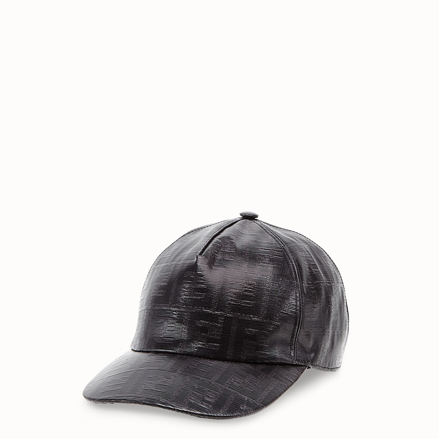 FENDI HAT - Black fabric baseball cap - view 1 detail