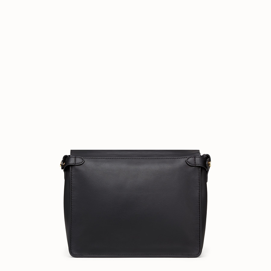 FENDI FENDI FLIP REGULAR - Black leather bag - view 5 detail