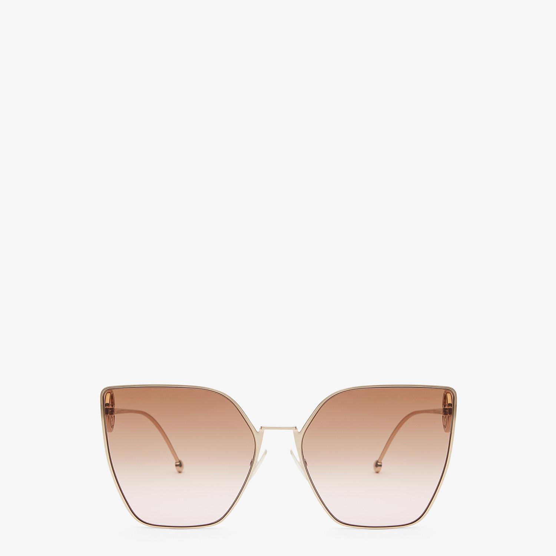 FENDI F IS FENDI - Gold-colored sunglasses - view 1 detail