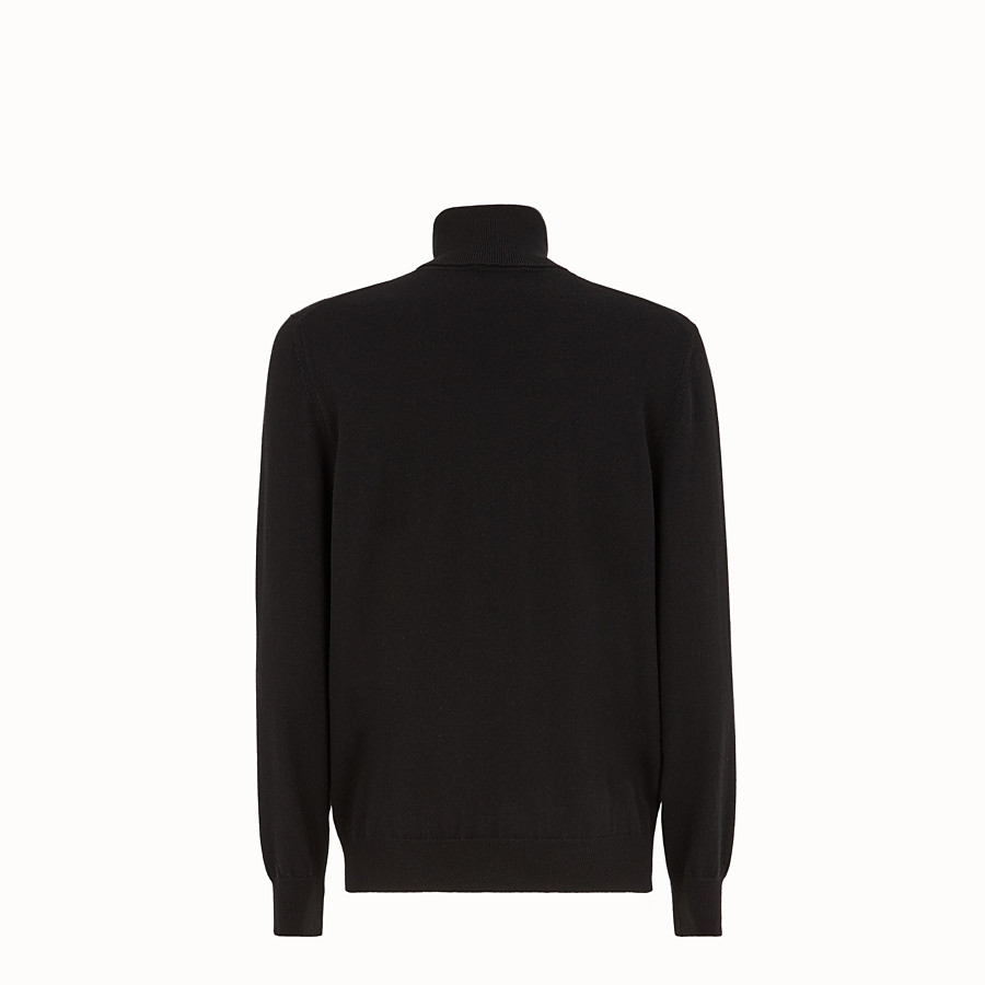 FENDI JUMPER - Black cashmere jumper - view 2 detail