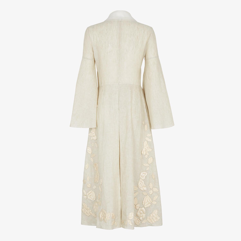 FENDI DRESS - Beige linen dress - view 2 detail