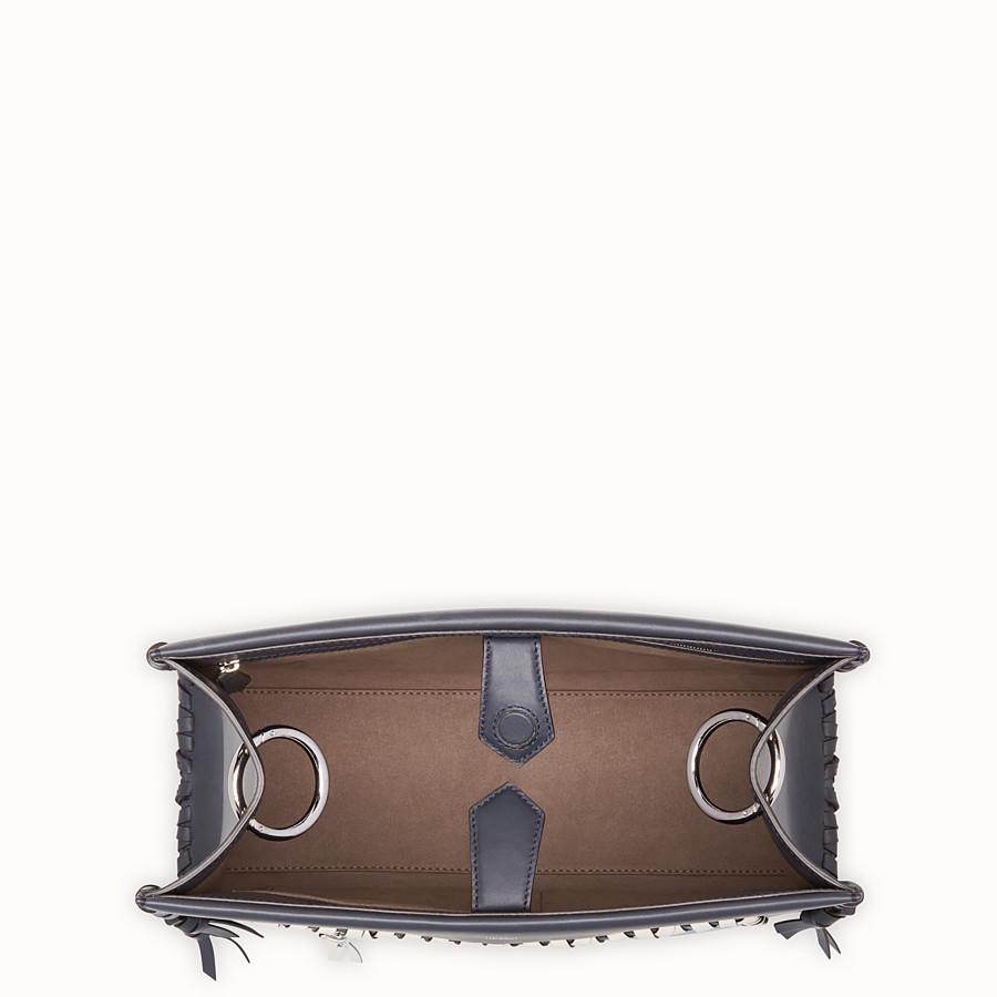 FENDI RUNAWAY REGULAR - 藍色皮革手袋 - view 4 detail