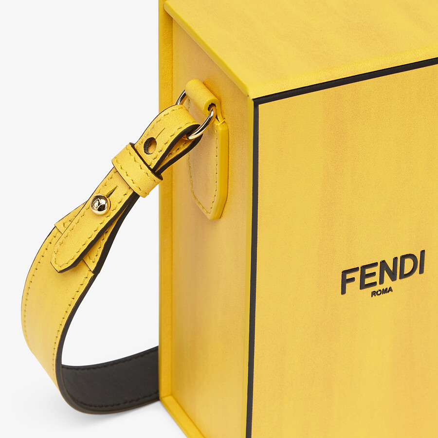FENDI VERTICAL BOX - Yellow leather bag - view 5 detail