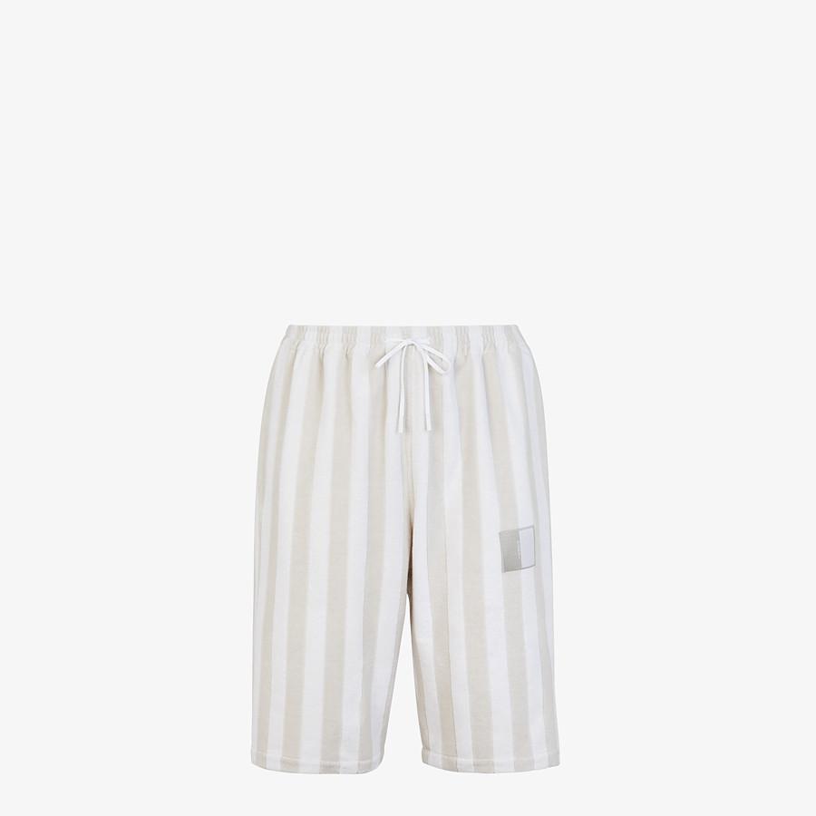FENDI PANTS - White cotton Bermudas - view 1 detail