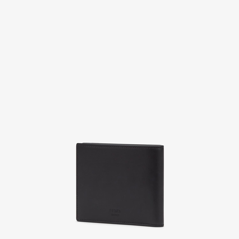 FENDI BI-FOLD WALLET - Black leather bi-fold wallet - view 2 detail