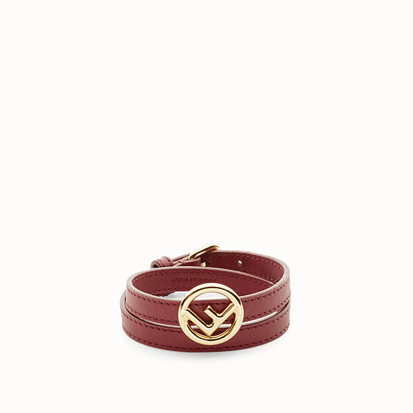 FENDI F IS FENDI BRACELET - Dark red bracelet - view 1 small thumbnail