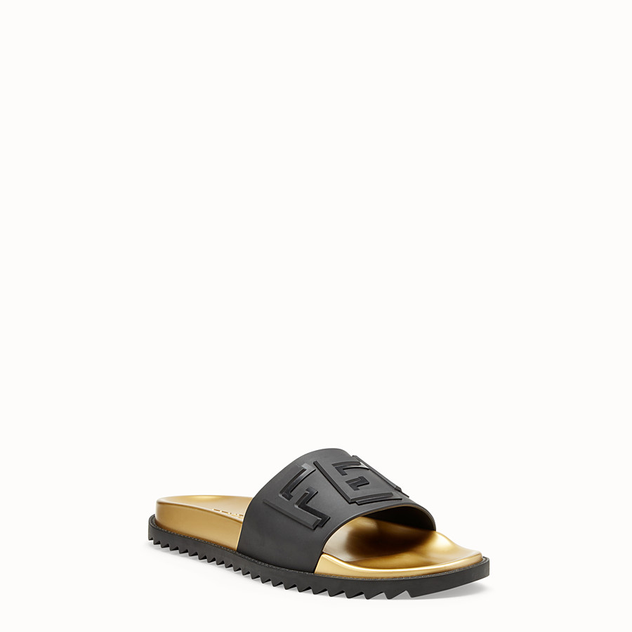 FENDI SLIDES - Black TPU fussbetts - view 2 detail