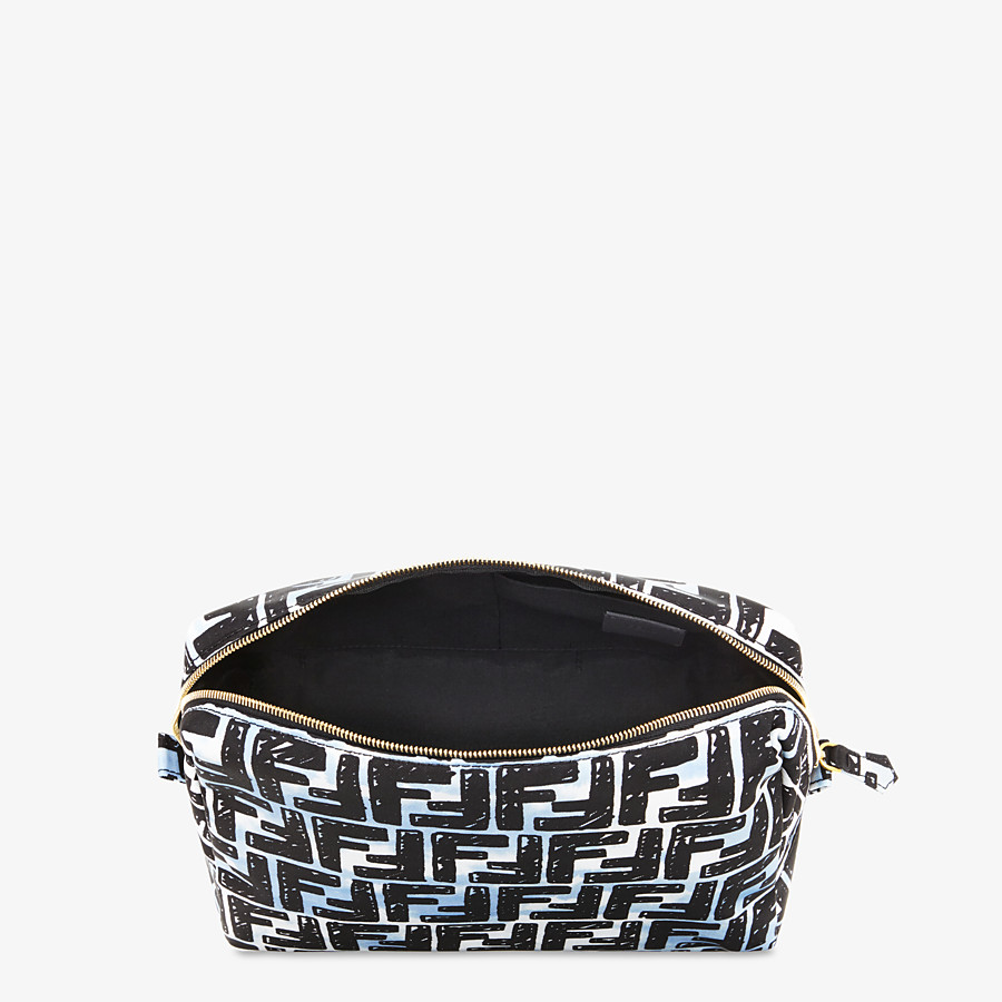 FENDI MEDIUM MAKEUP POUCH - Multicolor nylon toiletry case - view 3 detail