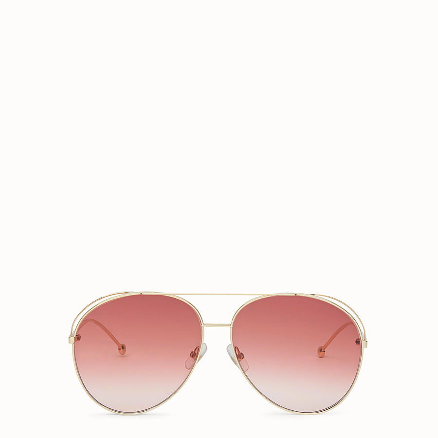 FENDI RUN AWAY - Rose-gold sunglasses - view 1 detail