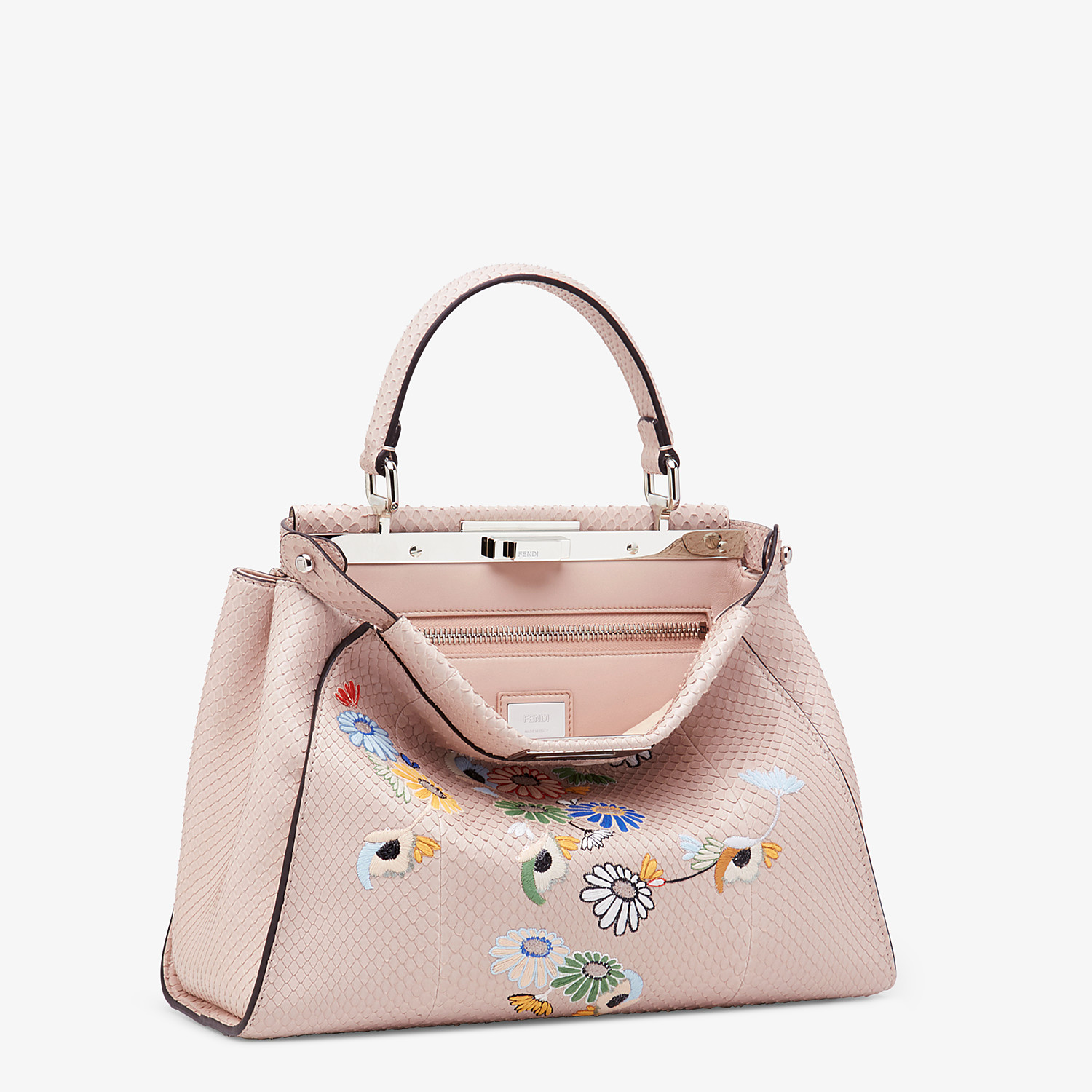 FENDI PEEKABOO ICONIC MEDIUM - Pink python leather bag - view 2 detail
