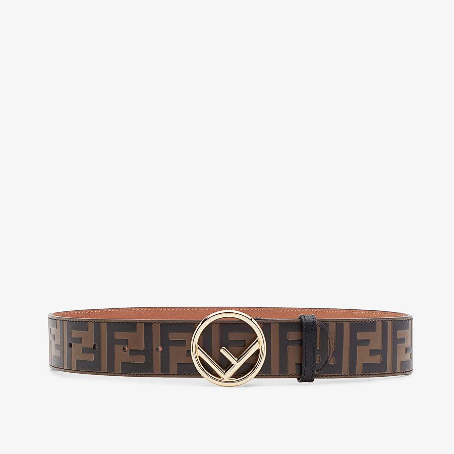 FENDI BELT - Brown leather belt - view 1 detail