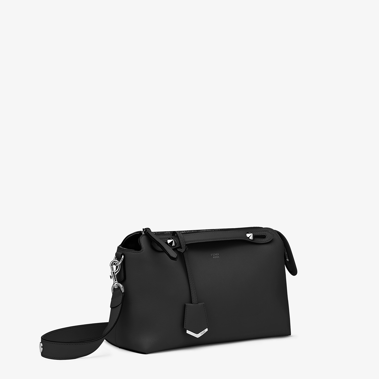FENDI BY THE WAY MEDIUM - Black leather Boston bag - view 2 detail