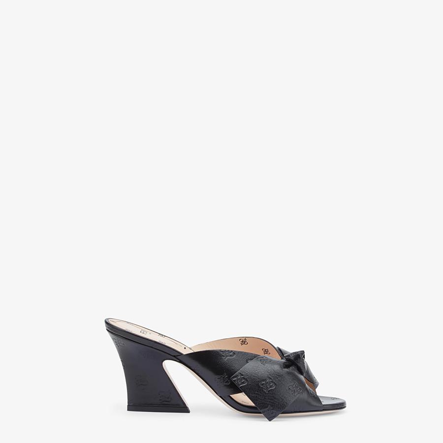 FENDI SABOTS - Black leather sandals - view 1 detail